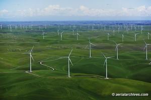 aerial photograph Shiloh Wind Power Plant Montezuma Hills Solano County California