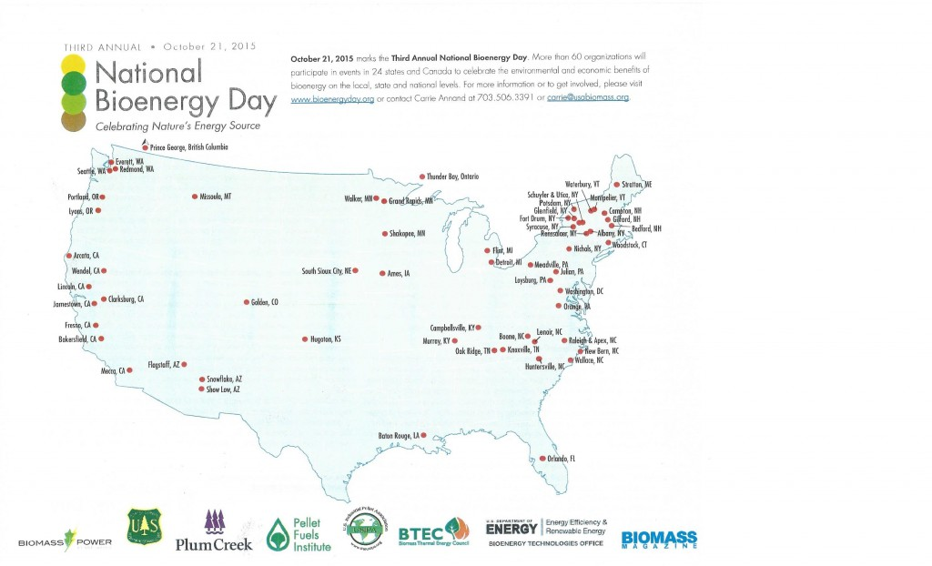 National Bioenergy Day Map